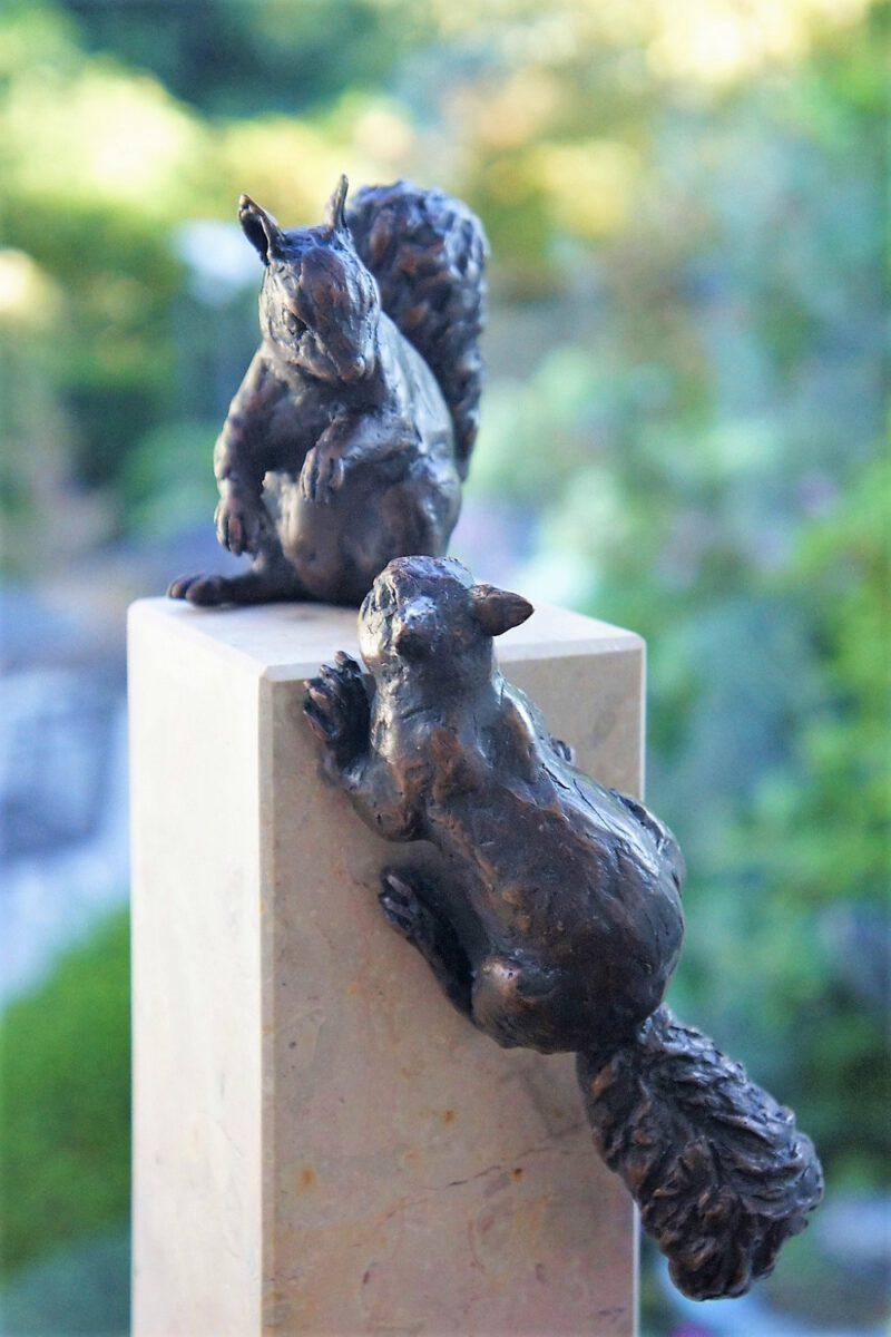 bronzen eekhoorns Diane Timmer