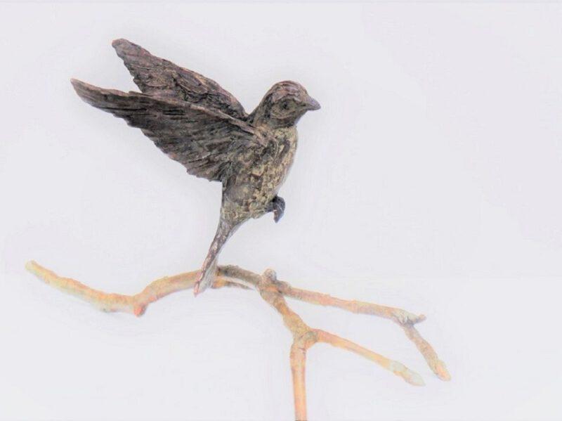 bronzen beeld mus