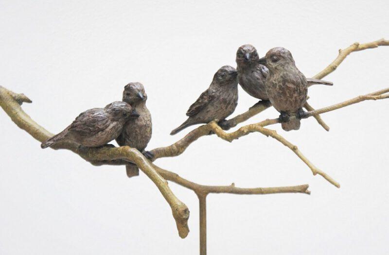 mussen-gezin in brons Diane Timmer