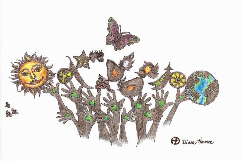 ode aan de natuur ontwerptekening Diane Timmer