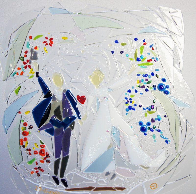 bruidspaar in glas Diane Timmer