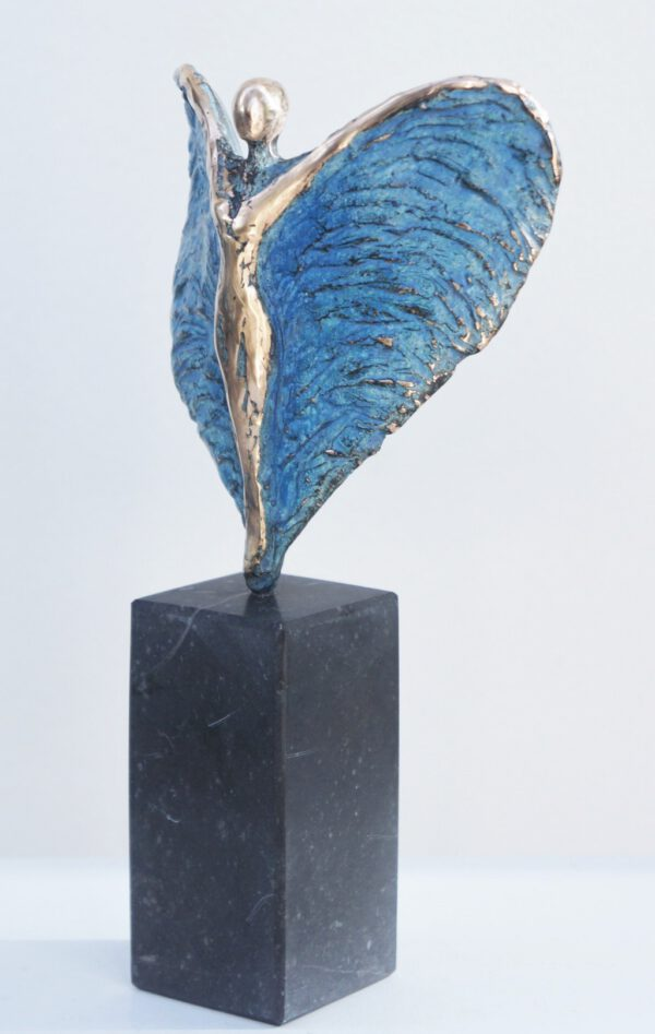 Blauwe engel brons Diane Timmer