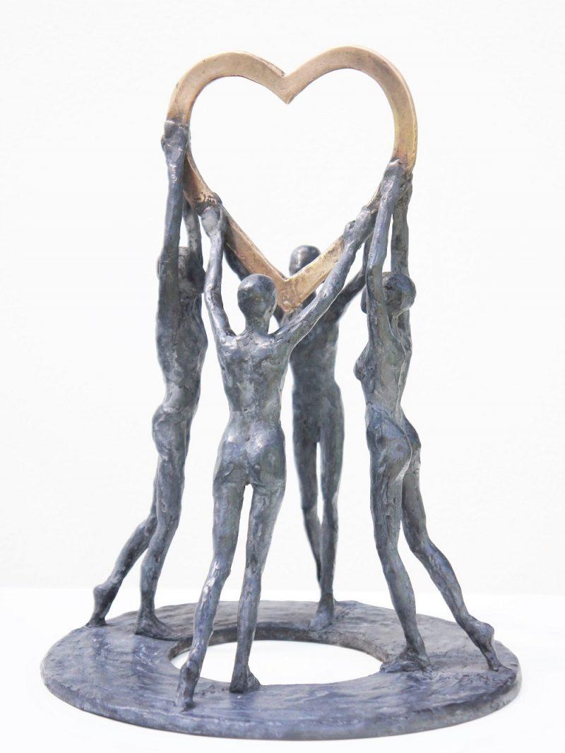 bronzen beeld gezin diane timmer