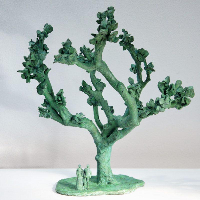 levensboom bronzen beeld Diane Timmer