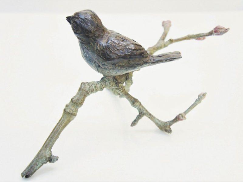 bronzen beeld musje Diane Timmer