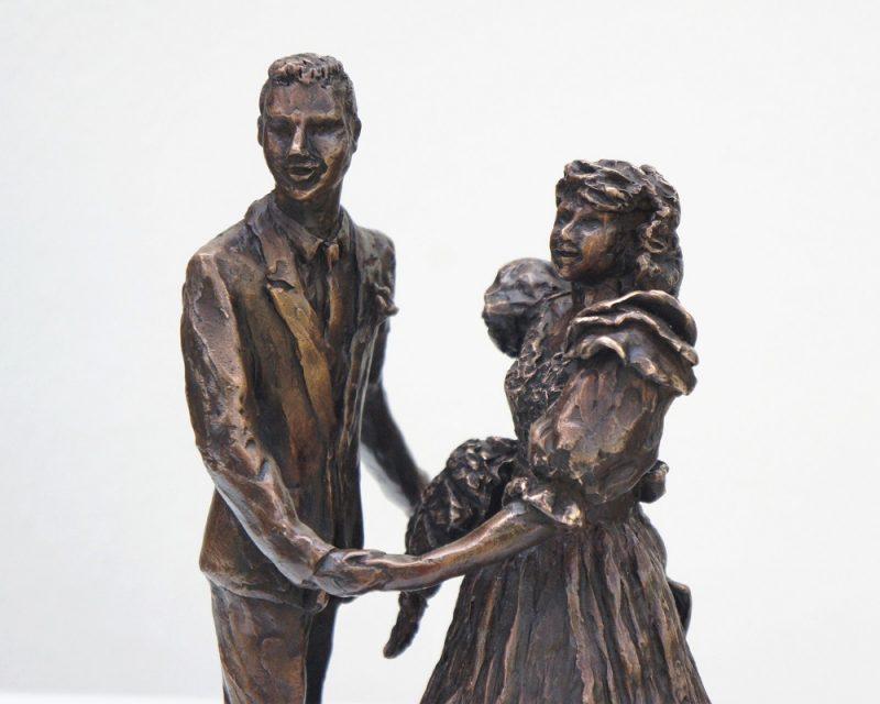 bronzen beeld bruidspaar Diane Timmer