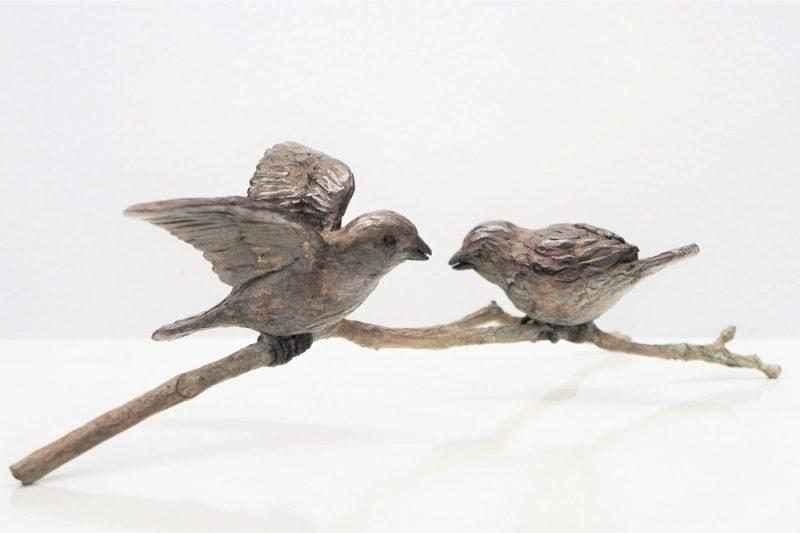 mussen in brons Diane Timmer